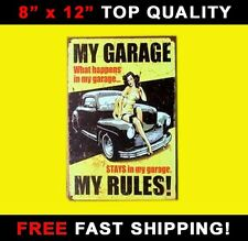 RETRO TIN SIGN Vintage Metal Sign Antique Plaque Decor Man Cave Garage Shop Car