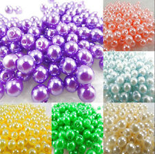 100/200Pcs Wholesale Imitation Pearl Round Spacer Loose Beads Charm Finding 6mm