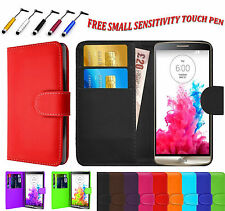 Magnetic PU Leather Book Side Flip Wallet Case Cover For LG Various Phone Models