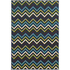 RUGS AREA RUGS CARPET AREA RUG FLOOR DECOR CONTEMPORARY CHEVRON BLUE RUGS NEW