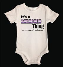 Custom Personalised Baby Girl One-Piece Suit. Size 0000-0