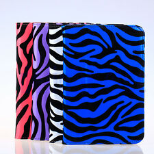 PU Leather with Felt Zebra Case Cover for Barnes & Noble Nook HD 7 Inch DH