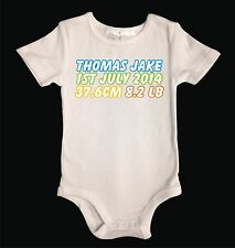 Personalised White Cotton Baby Boy One Piece