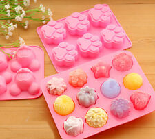 DIY Assorted Silicone Ice Cube Chocolate Jelly Candy Cake Cookie Mold Tray Maker