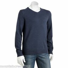 New SONOMA Life & Style Men's Sweater Size S V-Neck Cotton Blue Adult Small