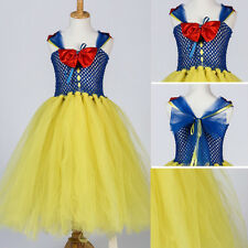 Disney Princess Snow White Flower Girl Fancy Dress Costume Party Cosplay Outfit