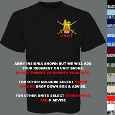UNITS 0 TO21 UK & FOREIGN ARMY ROYAL AIR FORCE NAVY REGIMENT T SHIRT XS TO 7XL