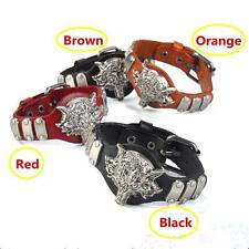 Unisex Punk Cool Style Wolf Men Leather Bracelet Cuff Bangle Charm Gift For Men