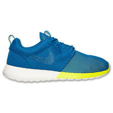 Men's Nike Roshe Run Military Blue Turbo Green White 511881 400