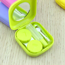 Mini Portable Contact Lens Case Travel Kit Mirror Contact Lenses Box Container