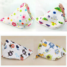 Baby  Organic Cotton Double Layers Flatware Children Spoon Triangle Bibs