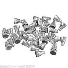 Wholesale HOT DIY Jewelry End Bead Caps Cone Silver Tone 11x9mm B01089