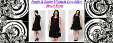New EX Yours Black Lace PARTY Skater Dress PLUS Size 16 18 26-28 be evans very
