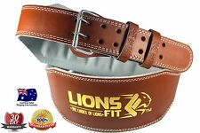"""LIONS FIT 6""""WIDE BROWN COLOUR SPLIT LEATHER WEIGHTLIFTING BODYBUILDING GYM BELT"""