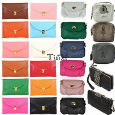 New Women Korean Style Faux Leather Black Rivet Clutch Purse Wallet Bag Lot TXWD