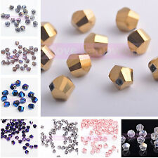 Wholeslae 6mm Charms Twist Helix Faceted Crystal Glass Loose Spacer Beads 20pcs
