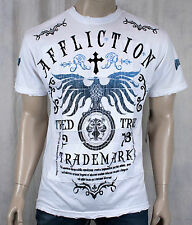 AFFLICTION Men's T-shirt TRIED TRUTH crew neck white eagle  A6930