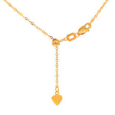 """10k Solid Yellow Or White Gold 1.1 mm Adjustable Singapore Chain Necklace 22"""""""