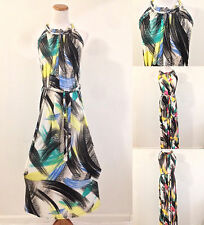 Casual Maxi Sundress String Belt Strap Summer Beach Party Boho Hawaiian M/L/XL
