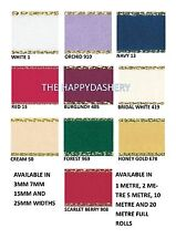 BERISFORDS 25MM GOLD LUREX EDGED SATIN RIBBON ALL COLOURS AND CHOICE OF LENGTHS