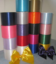 "SATIN SASH RIBBON 4"" (100mm) WIDE, CHOICE OF 20 COLOURS, IDEAL FOR HEN NIGHTS"