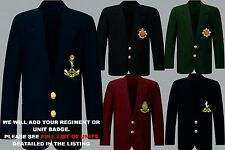 UNIT R-S MILITARY ARMY RAF ROYAL NAVY MARINES REGIMENTAL BLAZER + BUTTONS TO 52""