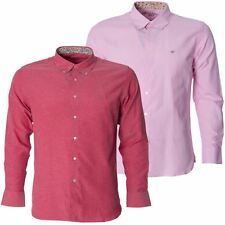 Maddox Street Mens Oxford Pink Shirt Long Sleeve Button Down Collar Casual Top
