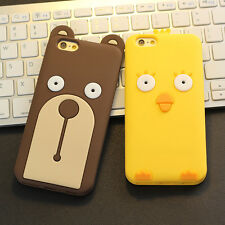 Cute Funny Bear Yellow Chicken Soft Silicone Case Cover for Apple iPhone 6 6Plus