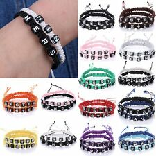 2 Pcs Couple Infinity Braided Wristband Bracelet Lovers Bangle Friendship Gift