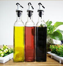 500 ml Olive Oil And Vinegar Glass Dispenser Storage Bottle Cruet SHER