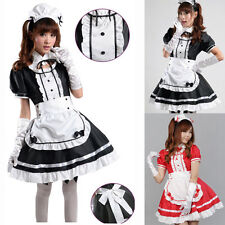 Women Girls Cute French Servant Maid Cosplay Sexy Fancy Dress Halloween Costumes