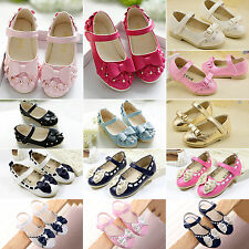 Baby Girls Kids Bow Flat Casual Princess Walking Shoes Flats Sneakers Sandals