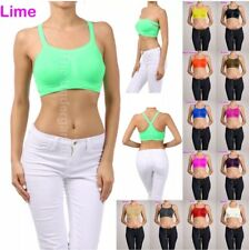 3 Bra 6 Tube Top Bras Yoga 5 Ways Workout Seamless TOP CAMI Multi-Color ONE Size
