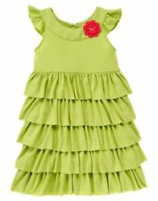 NWT Gymboree Pretty Posies  Green Ruffle Knit Dress SZ 4 Girls