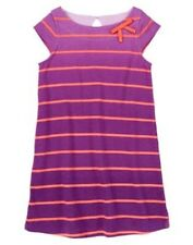 Gymboree  Striped Coral  Purple Dress  Cherry Blossom  Girls SZ 8 NEW