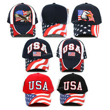 Baseball Cap USA American Flag Star Eagle Trucker Hat Adjustable Ball Cap New