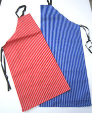 Red Blue Striped Apron Butchers Bakers Chef Kitchen
