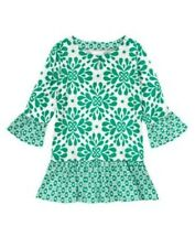 NWT Gymboree Clover Ruffle Tunic Blouse Top The Green Scene Girls 4 5 6 7