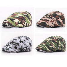 Men Women Camo Military Ivy Flat Hat Combat Camouflage Casquette Army Peaked Cap