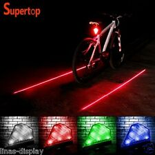 Cycling Bicycle Tail Light 8 LED Laser Waterproof Rear Warning Lamp Rechargeable
