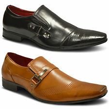 Mens Smart Wedding Pointed Toe Italian Leather Lined Formal Dress Party Shoes UK