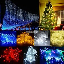 100/300/600 LED Chaser String Fairy Lights Christmas Xmas Party Indoor/Outdoor