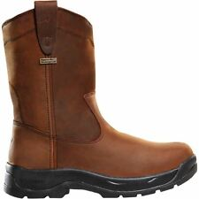 "LaCrosse QC Wellington DC 670020 Mens Brown Leather 11"" Waterproof Work Boots"