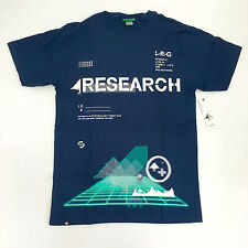 Lifted Research Group Interelevaton Logo Premium T-shirt Blue Skateboard LRGIE