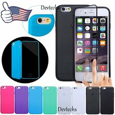 "for iPhone 6 4.7"" / Plus 5.5"" Silicone Gel Full Body Case Cover Skin Protector"