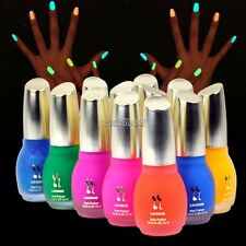 WST 12 Colors Nail Enamel Nail Art 15ml Glow in Nail Varnish Fluorescent Polish
