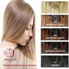 THICK Double Weft Clip In Remy Human Hair Extensions Full Head 18 20 22 24 QU567