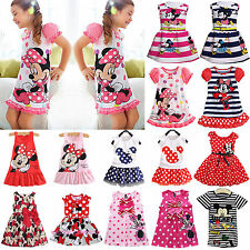 New Baby Girls Minnie Mouse Princess Skirt Dress Kids Casual Party Tops Sundress
