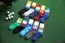 10 Pairs Fashion Mens Socks Lot Cotton Warm Colorful diamond Casual Dress Socks