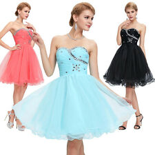 Short Mini Homecoming Cocktail Prom Party Dress Strapless Evening Ball Gowns